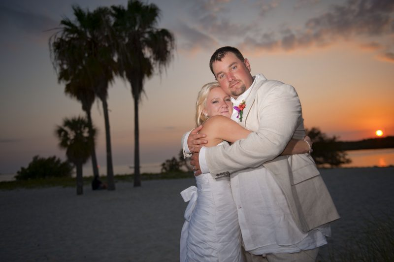 Wedding celebration on the beach in the Florida Keys